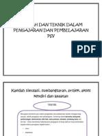 66288332 Kaedah Dan Teknik Dalam Pengajaran Dan Pembelajaran Psv