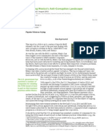 2012 - Surveying Mexico's Anti-Corruption Landscape - MAPI Policy Analysis