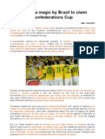 Maracana Magic by Brazil to Claim Confederations Cup