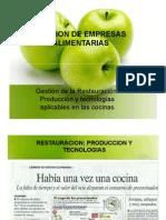 Produccion y Tecnologias Aplicables en Las Cocinas