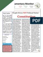Parliamentary Monitor- 10 October 2011
