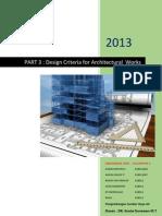 Bag 3 Keriteria Desain Untuk Pekerjaan Arsitektural