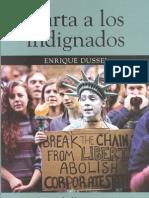 Enrique Dussel Carta a Los Indignados
