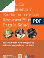 Manual Para Evaluacion de Rhh Salud Oms