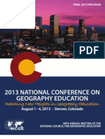 2013 National Conference on Geography Education Conference Program