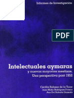 Intelectuales Aymaras y Nuevas Mayorias Mestizas. Una Perspectiva Post 1952