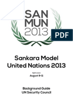 Security Council Background Guide - SanMUN 2013