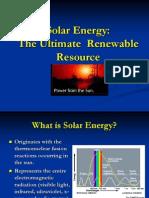 Our Sourses the Solar Energy