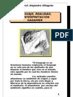 Gadamer, lenguaje, realidad, interpretación - copia