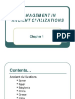 Chapter 1-Mgt. in Ancient Civilizations