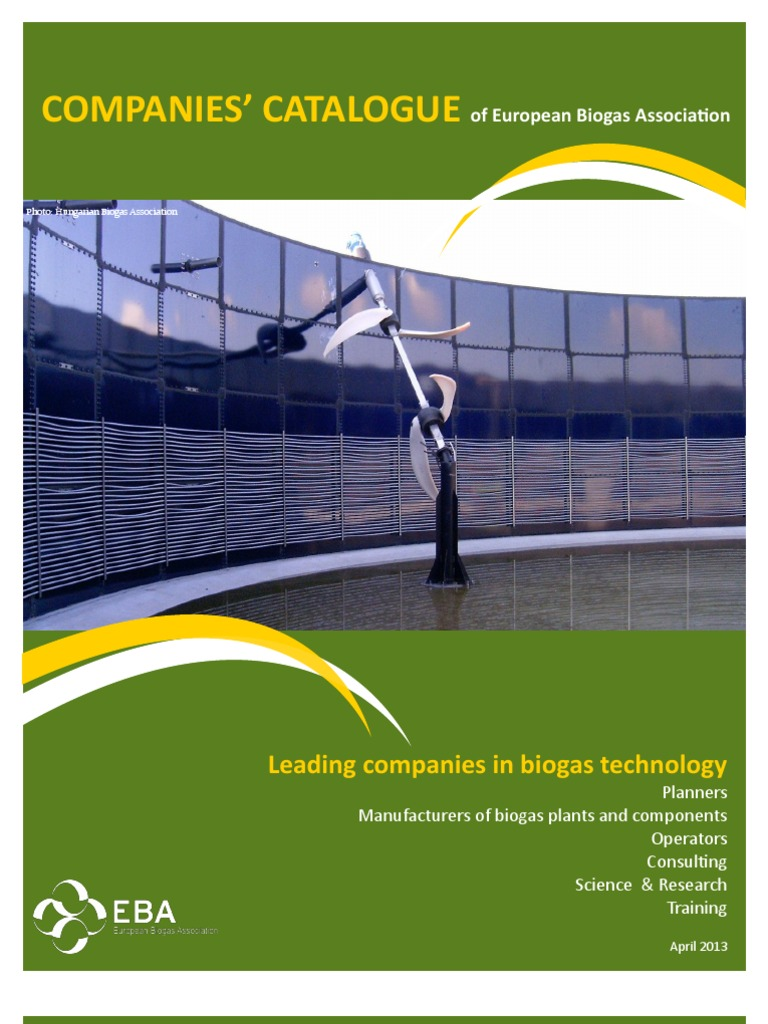 European Biogas companies catalogue pdf   Biogas   Anaerobic
