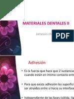 Materiales Dentales II