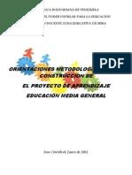 Proyecto Aprendizaje Intructivo Educacion Media
