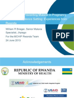 Tracking and Preventing Malaria in Pregnancy in a Low Prevalence Setting