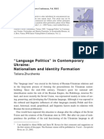 """""""Language Politics"""" in Contemporary"""