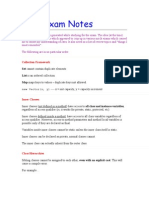 Java Exam Notes