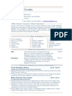 Business Consultant MBA CV Resume template