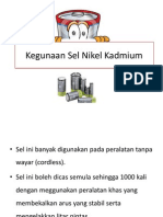 Kegunaan Sel Nikel Kadmium