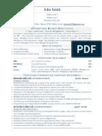 Business Director (Sales) CV resume sample