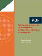 Andrade, Patricia - Participación e incidencia de la sociedad civil en las políticas educativas. el caso peruano.pdf