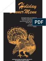 ACSH Holiday Menu - All the carcinogens in the most organic meal