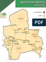 Mapa departamental turistico
