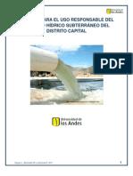 Politica Para El Uso Responsable Del Agua Subterranea en El d.c.