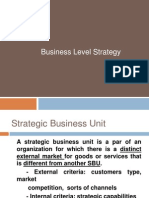 Business Level Strategy