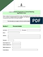 Cadet Application Form - 2014 Intake