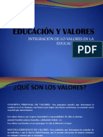 Los Valores Integrados a La Educacion Actual (1)