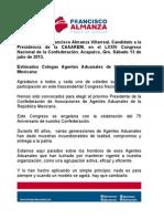 13072013 FAV LXXIV Congreso Nacional de la CAAAREM