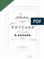 Aguado, Dionisio - Op.15 - Collection Des Oeuvres Pour La Guitare