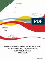 Lineas Del Plan Nac de Dep Presentacion 08-02-2012