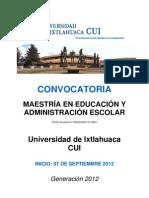 Convocatoria Mae Sep2012