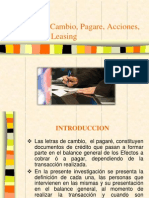 Letra de Cambio, Pagare, Acciones.pptx