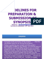 Synopsis Guidelines