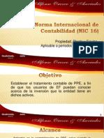 NIC 16 Propiedad Planta y Eq