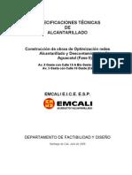 Emcali- Especificaciones Obras de Alcantarillado