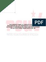 Reglamento PSUV