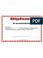 Diploma de Incentivador (Que Motiva as pessoas, com otimismo e apoio)