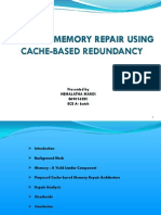 efficient memory repair using cache based redundancy