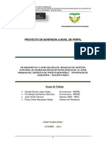PIP - MEJ. AMPLIA SS GESTION INTEGRAL RESIDUOS SOLIDOS MUNI ZONA URBANA PTO. BERMUDEZ - AÑO 2011
