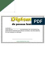 Diploma de Pessoa Lenta