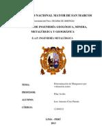DETERMINACIÓN DEL MANGANESO