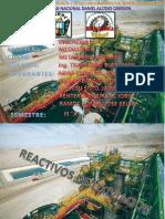 Reactivos de Lixiviacion