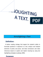Annolighting a Text (1)