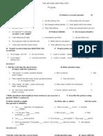 2nd Written Test 7_2012