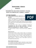 Especificaciones Tecn Canal Puylucana Amplia