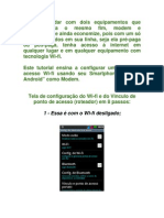 Configurando Wi-Fi portátil no Android