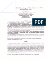 Desarrollo de un modelo matemático para el control Operativo de un Horno
